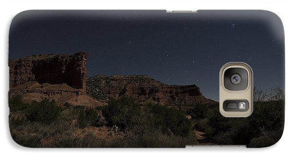 Galaxy Case featuring the photograph Moonlit Path by Melany Sarafis
