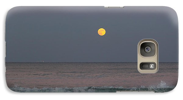 Galaxy Case featuring the photograph Moonrise At Sunset by Michelle Wiarda