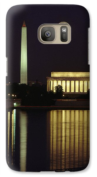 Lincoln Memorial Galaxy S7 Case - Moonrise Over The Lincoln Memorial by Richard Nowitz