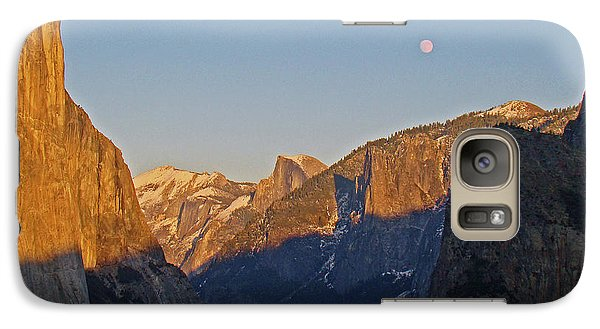 Galaxy Case featuring the photograph Moonrise by Walter Fahmy