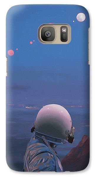 Astronaut Galaxy S7 Case - Moons by Scott Listfield