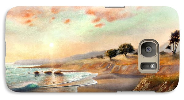 Galaxy Case featuring the painting Moonstone Beach California by Michael Rock