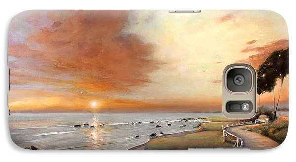 Galaxy Case featuring the painting Moonstone Cambria Sunset by Michael Rock