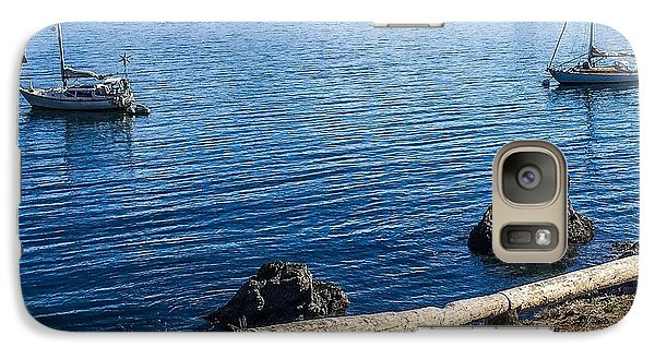 Galaxy Case featuring the photograph Mooring In Doe Bay by William Wyckoff