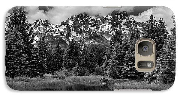 Moose At Schwabacher's Landing Galaxy S7 Case