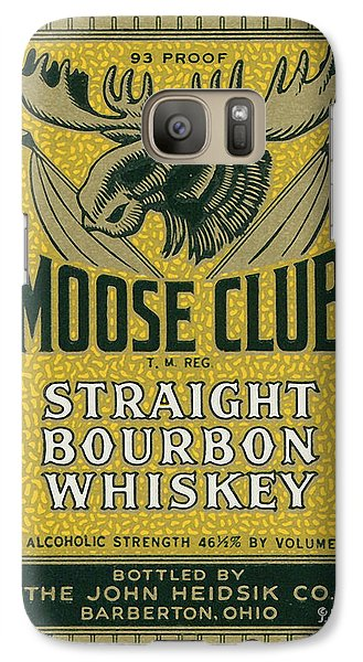 Galaxy Case featuring the photograph Moose Club Bourbon Label by Tom Mc Nemar