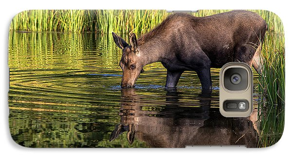 Galaxy Case featuring the photograph Moose Reflections by Mary Hone