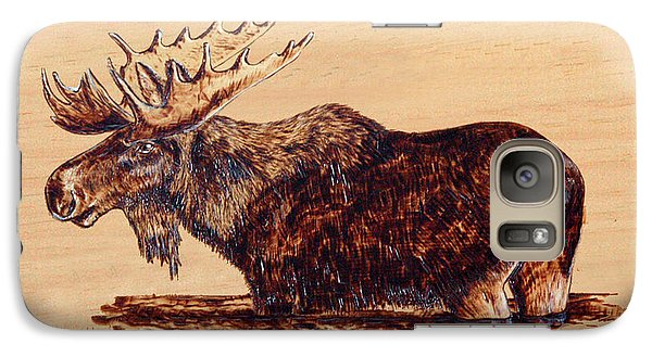 Galaxy Case featuring the pyrography Moose by Ron Haist