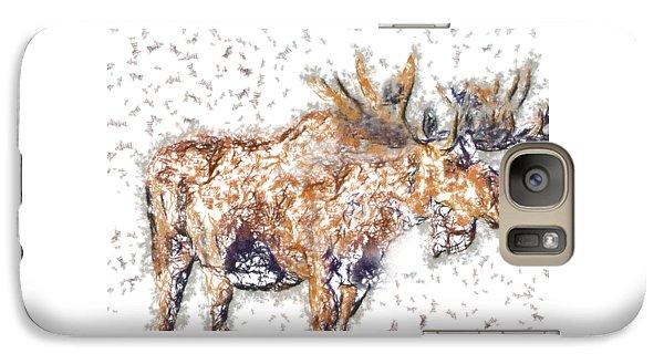 Galaxy Case featuring the digital art Moose-sticks by Elaine Ossipov