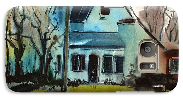 Galaxy Case featuring the painting Moppity's House Matted Framed Glassed by Charlie Spear