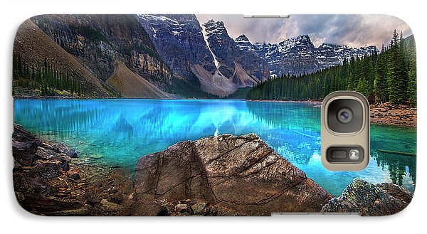 Galaxy Case featuring the photograph Moraine Lake by John Poon