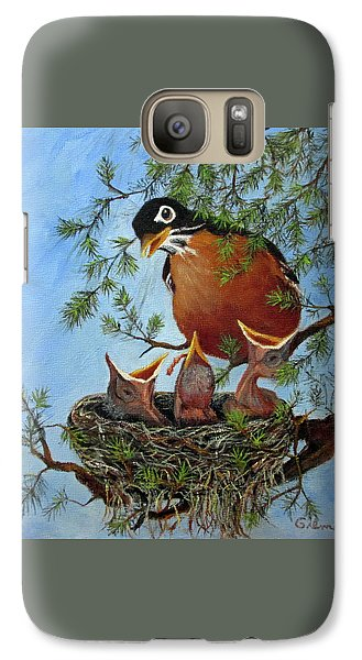 Galaxy Case featuring the painting More Food by Roseann Gilmore