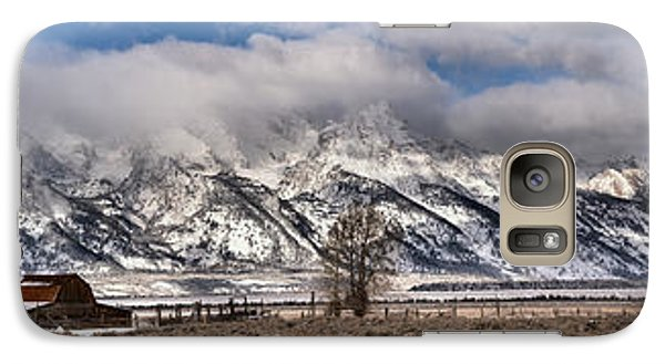 Galaxy Case featuring the photograph Mormon Row Extended Panorama by Adam Jewell