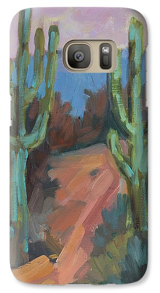 Galaxy Case featuring the painting Morning At Fort Apache by Diane McClary