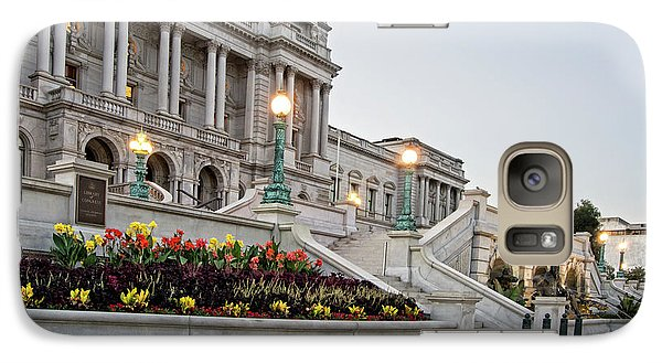 Galaxy Case featuring the photograph Morning At The Library Of Congress by Greg Mimbs