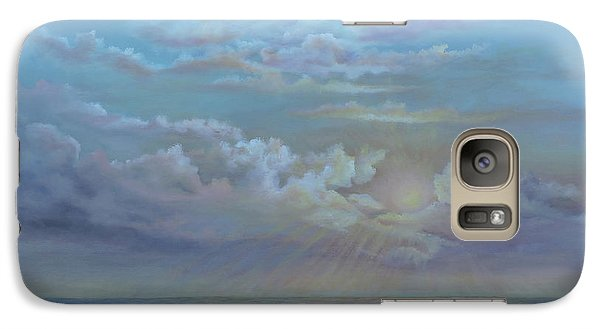 Galaxy Case featuring the painting Morning At The Ocean by Luczay