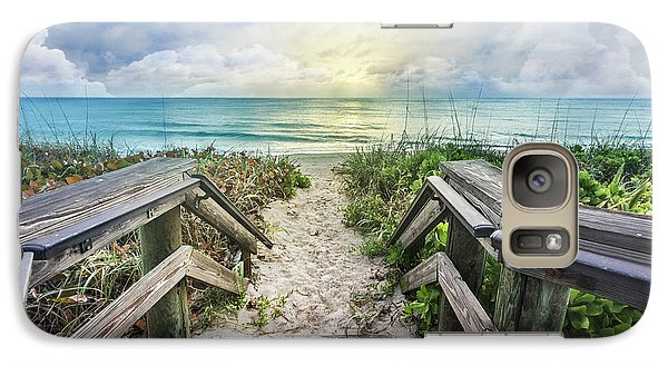 Galaxy Case featuring the photograph Morning Blues At The Dune by Debra and Dave Vanderlaan