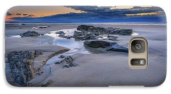 Galaxy Case featuring the photograph Morning Calm On Wells Beach by Rick Berk