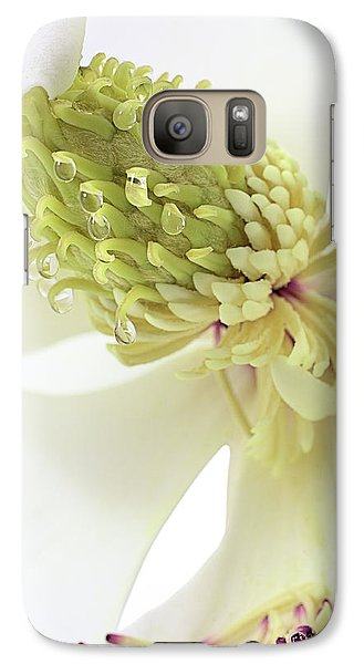 Galaxy S7 Case featuring the photograph Morning Dew On The Magnolia by JC Findley