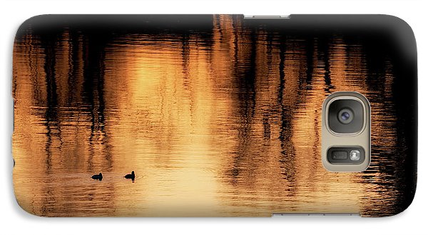 Galaxy Case featuring the photograph Morning Ducks 2017 by Bill Wakeley