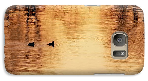 Galaxy Case featuring the photograph Morning Ducks 2017 Square by Bill Wakeley