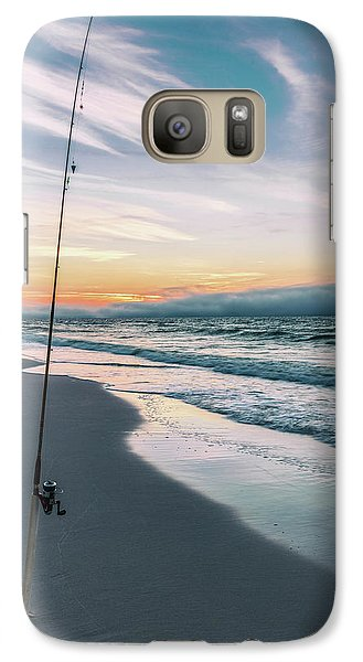 Galaxy Case featuring the photograph Morning Fishing At The Beach  by John McGraw