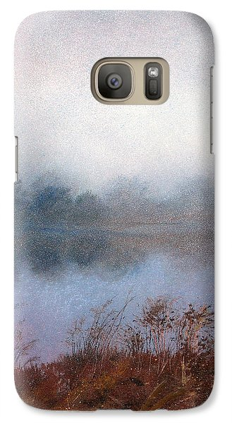 Galaxy Case featuring the painting Morning Fog by Andrew King