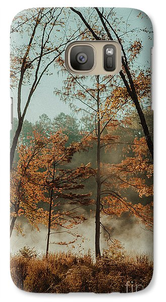 Galaxy Case featuring the photograph Morning Fog At The River by Iris Greenwell