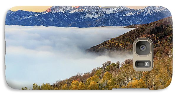Galaxy Case featuring the photograph Morning Fog In The Southern Wasatch. by Johnny Adolphson