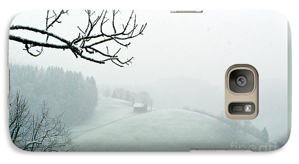 Galaxy Case featuring the photograph Morning Fog - Winter In Switzerland by Susanne Van Hulst