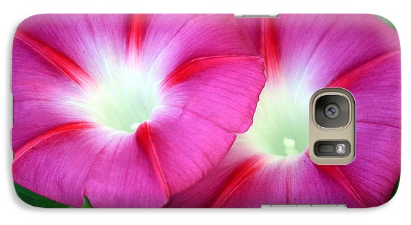 Galaxy Case featuring the photograph Morning Glories by Sheila Brown