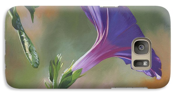 Galaxy Case featuring the painting Morning Glory by Alecia Underhill