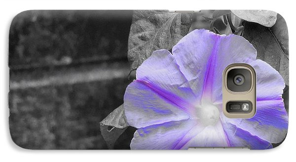 Galaxy Case featuring the photograph Morning Glory Flower by Chad and Stacey Hall