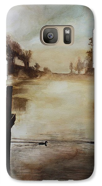 Galaxy Case featuring the painting Morning Has Broken by Rachel Hames