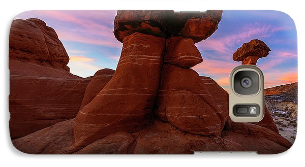 Galaxy Case featuring the photograph Morning Hoodoo by Mike Lang