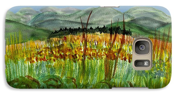 Galaxy Case featuring the painting Morning In Backyard At Barton by Donna Walsh