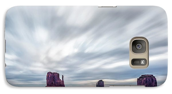 Galaxy Case featuring the photograph Morning In Monument Valley by Jon Glaser