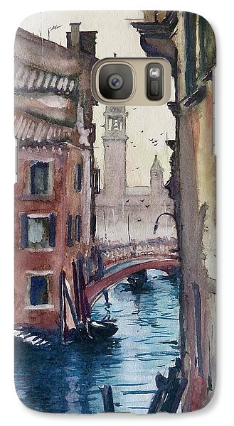 Galaxy Case featuring the painting Morning In Venice by Geni Gorani