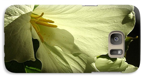 Galaxy Case featuring the photograph Morning Light - Trillium by Angie Rea