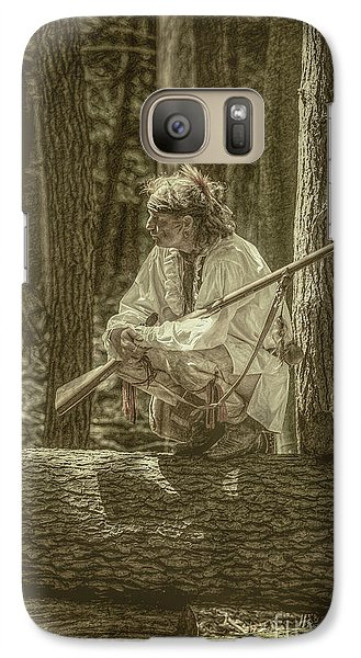 Galaxy Case featuring the digital art Morning Light Cook Forest Sepia Toned by Randy Steele