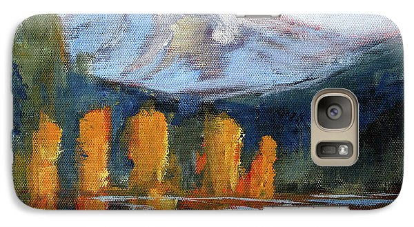 Galaxy S7 Case featuring the painting Morning Light Mountain Landscape Painting by Nancy Merkle