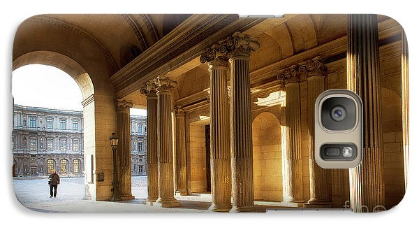 Galaxy Case featuring the photograph Morning Lights At The Louvre Museum by Ivy Ho