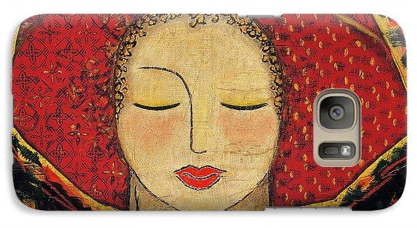 Galaxy Case featuring the mixed media Morning Meditation by Gloria Rothrock