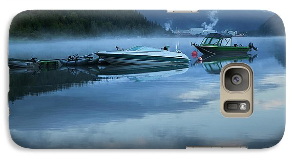 Galaxy Case featuring the photograph Morning Mist Adams Lake by Theresa Tahara