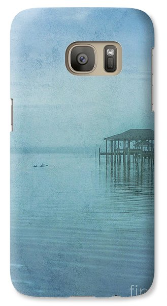 Galaxy Case featuring the digital art Morning Mist In Blue by Randy Steele