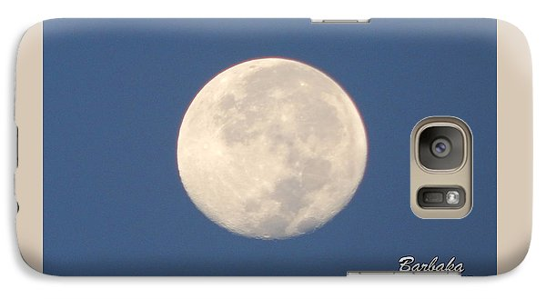 Galaxy Case featuring the photograph Morning Moon by Barbara Tristan