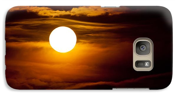 Galaxy Case featuring the photograph Morning Moonset by Colleen Coccia