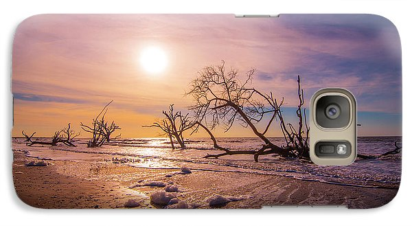 Galaxy Case featuring the photograph Morning On Boneyard Beach by Steven Ainsworth