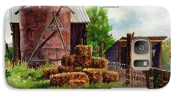 Galaxy Case featuring the painting Morning On The Farm by Anne Gifford