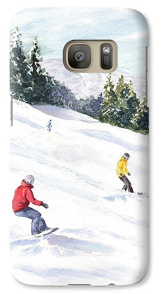 Galaxy Case featuring the painting Morning On The Mountain by Vikki Bouffard